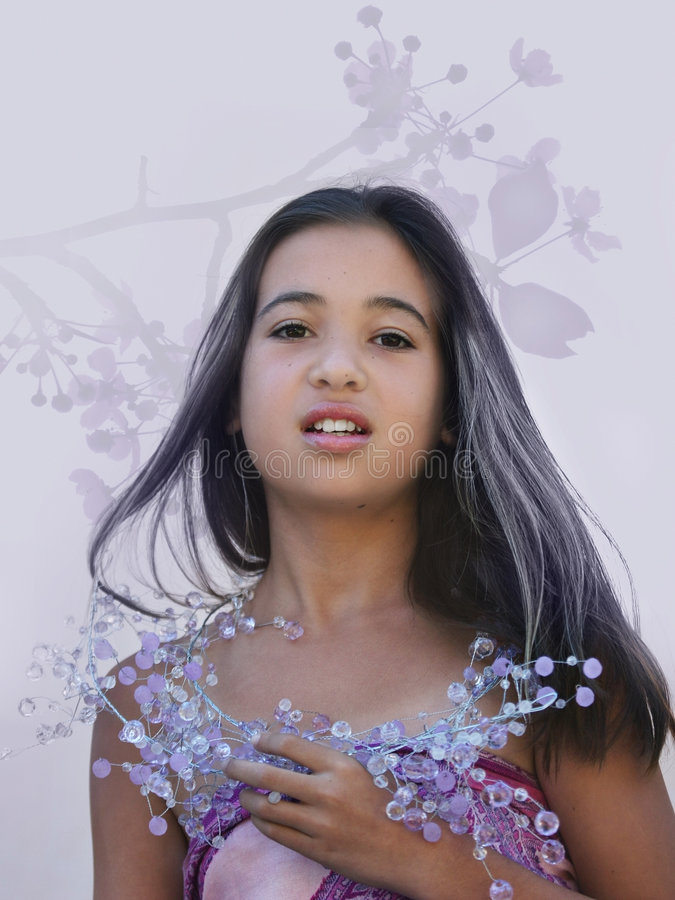 Glamor asiático fotografia de stock