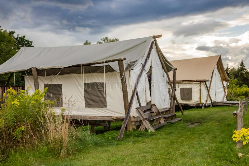 Glamping in New York royalty free stock photography