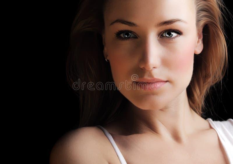 Glamor Frauengesicht lizenzfreies stockfoto