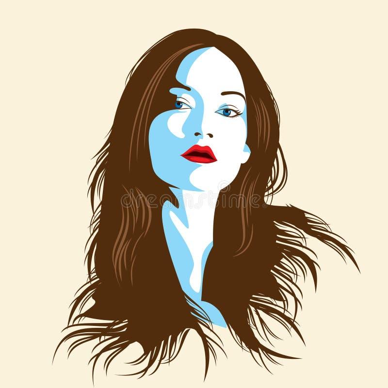 Glamor girl stock illustration