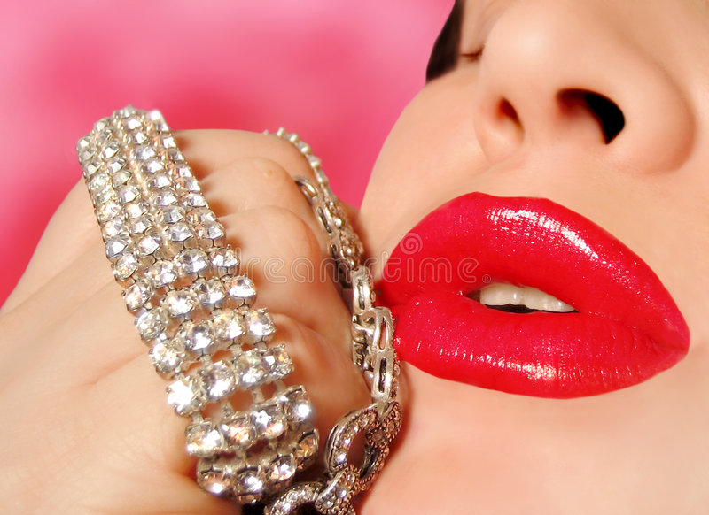 Glamor girl royalty free stock image