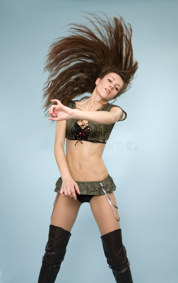 Download Glamor girl flipping hair stock image. Image of caucasian - 8058905