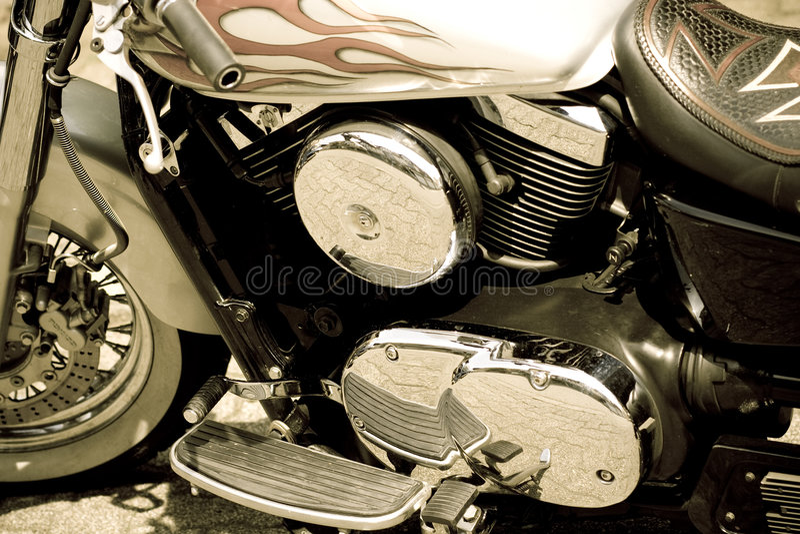 Glamor motorcycle royalty free stock photos