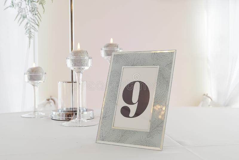 Glamor wedding table royalty free stock photography