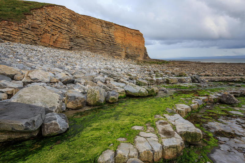 Glamorgan Heritage coast, UK royalty free stock photos