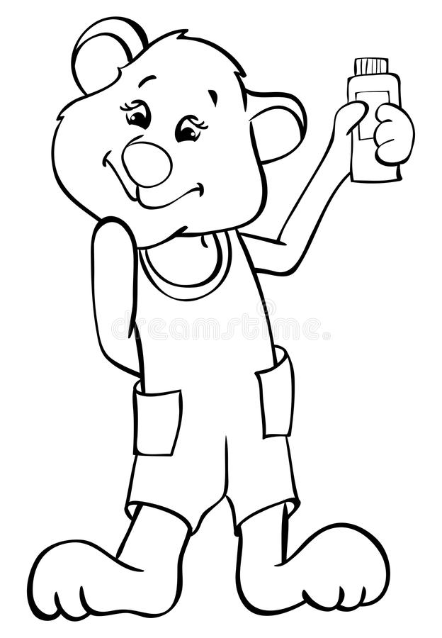Download Glamorous bear stock vector. Image of cartoon, outline - 25526608