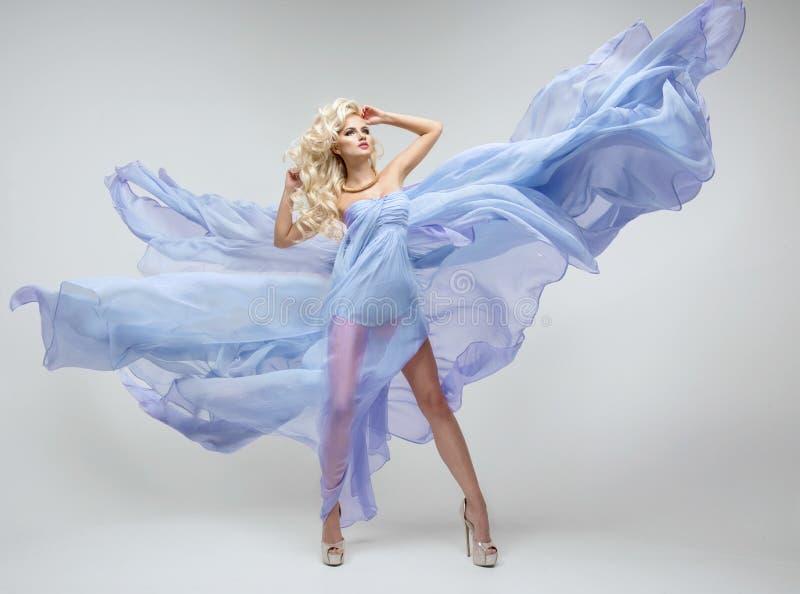 Glamorous curvy blonde woman stock photography