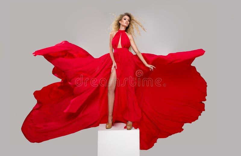 Glamorous curvy blonde woman royalty free stock photography