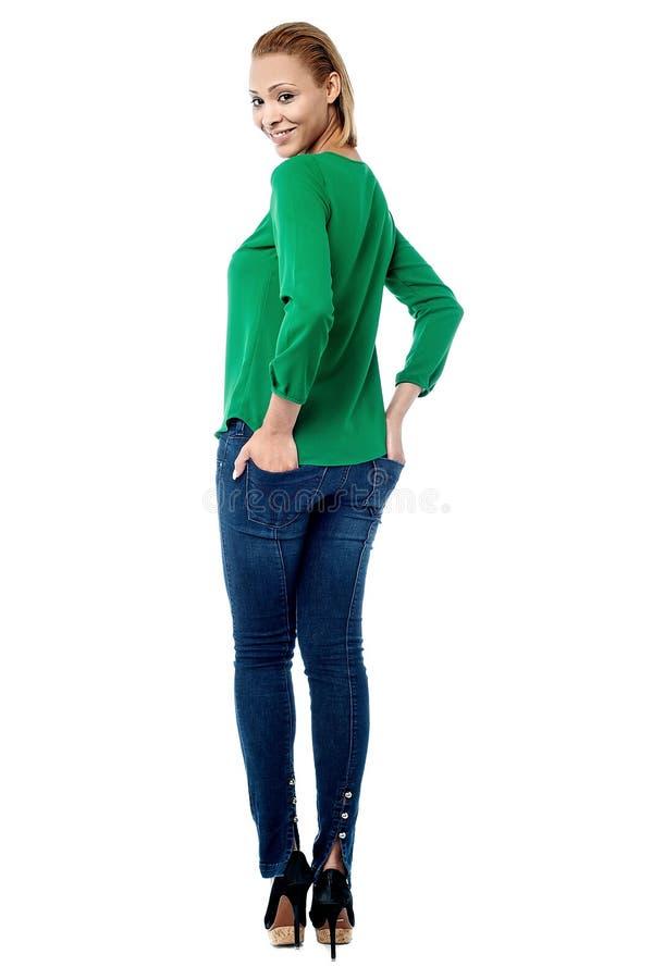 Glamorous fashion model posing royalty free stock photos