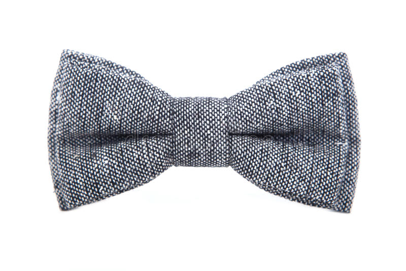 Glamorous gray bow tie isolated on white background royalty free stock photo