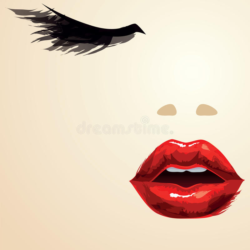 Glamorous portrait vector illustration