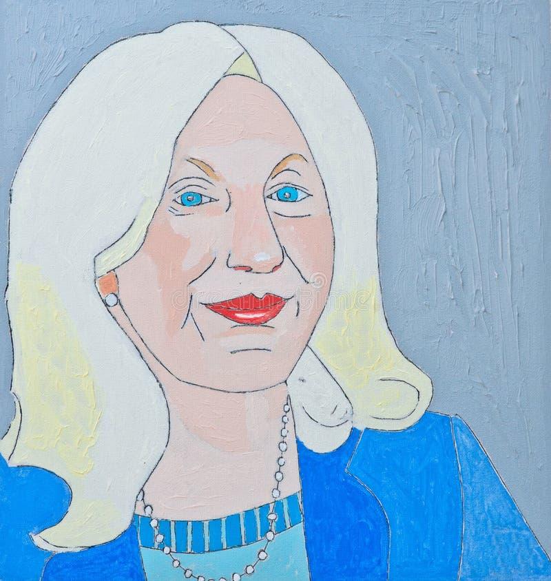 Download Glamorous Senior woman stock illustration. Illustration of artistic - 59643833
