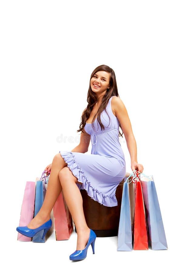 Glamorous shopper stock photography