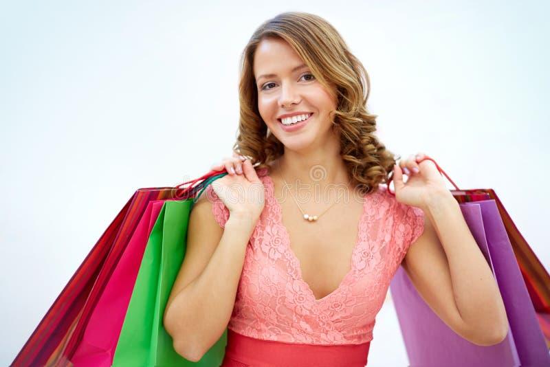 Glamorous shopper stock photo