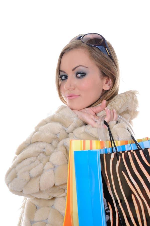 Download Glamorous shopping woman stock image. Image of white, style - 6808689