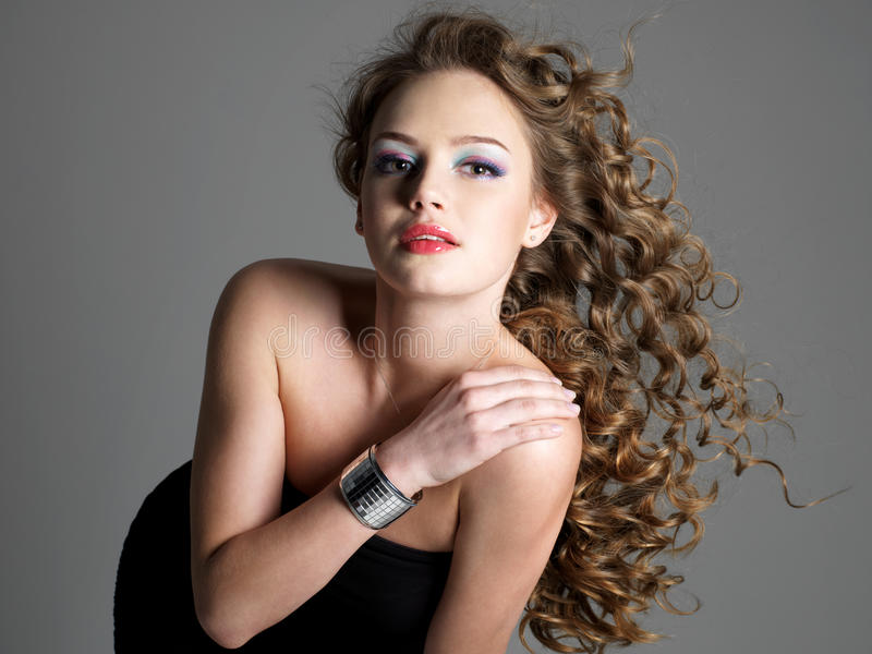Glamour and beauty of sensuality woman stock photography