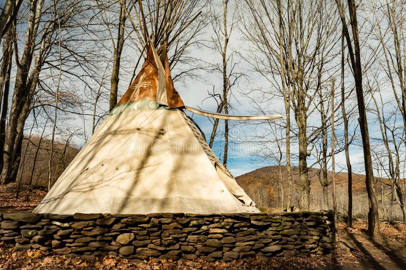 A cute glamour camping Teepee stock images