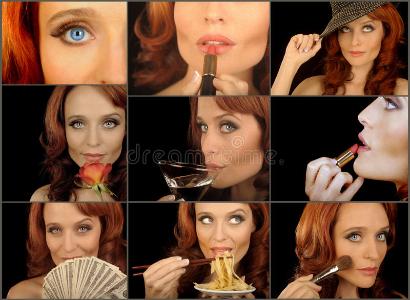 Glamour Collage royalty free stock photography