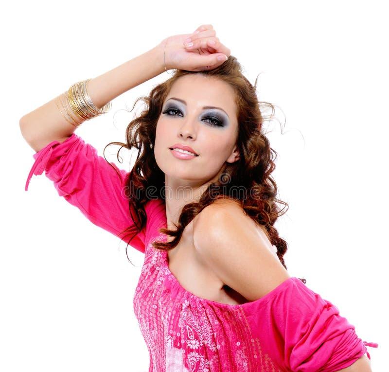 Glamour expressive woman royalty free stock photos