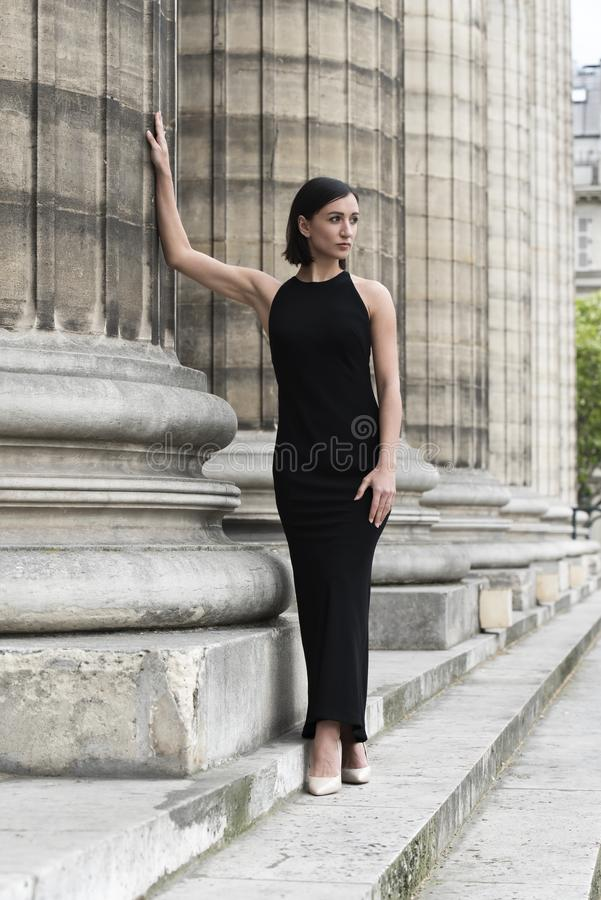Glamour Fashion Portrait of Young Elegant Woman. Street Fashion concept royalty free stock photography