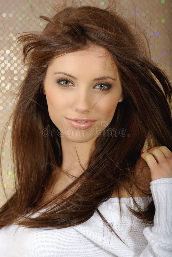 Glamour and fashion girl royalty free stock image