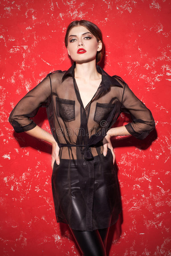 Glamour fashion model. stock photos