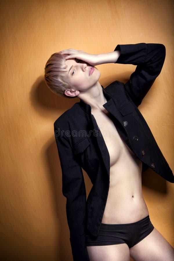 Free Glamour Fashion Pose, Beautiful Blonde Girl Royalty Free Stock Image - 23674296