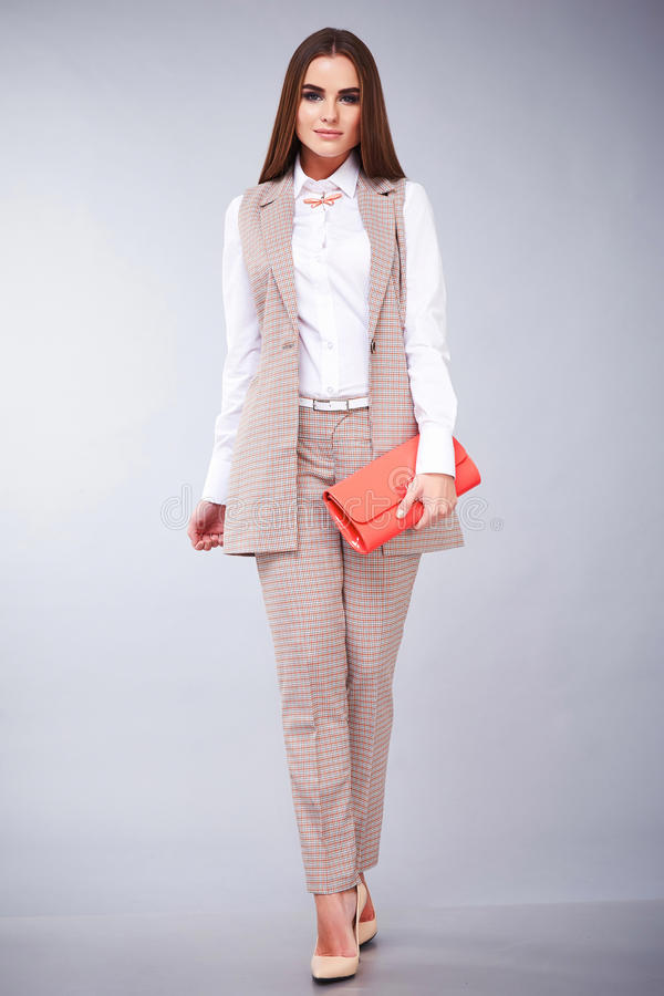Glamour fashion style beautiful woman clothes stock photos