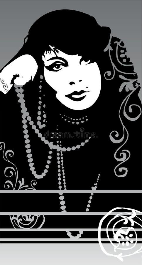 Glamour girl royalty free stock image