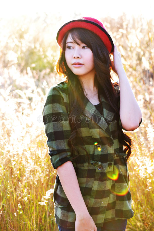 Download Glamour girl in meadow203 stock image. Image of looking - 26573799