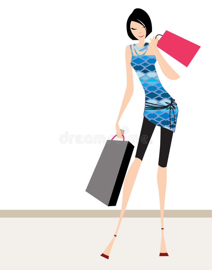 Glamour Girl Standing Royalty Free Stock Image