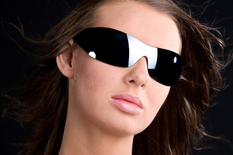 Glamour Girl In Sunglasses Portrait Royalty Free Stock Images