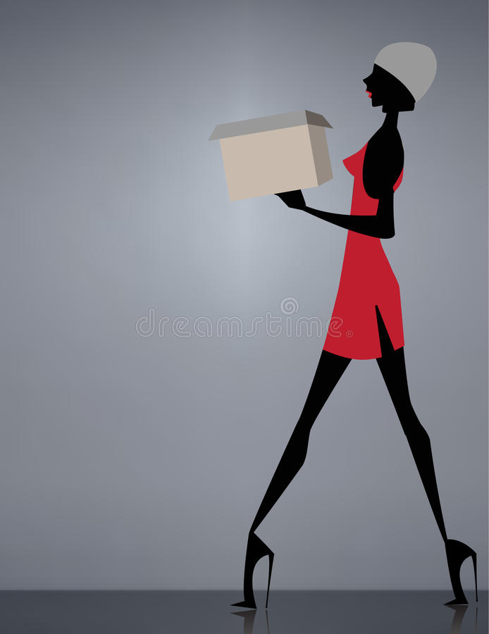 Glamour Girl Walking Stock Images