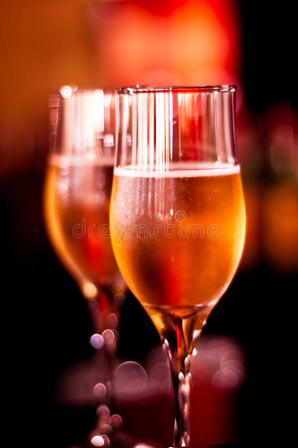 Glamour Glasses With Champagne Royalty Free Stock Photo