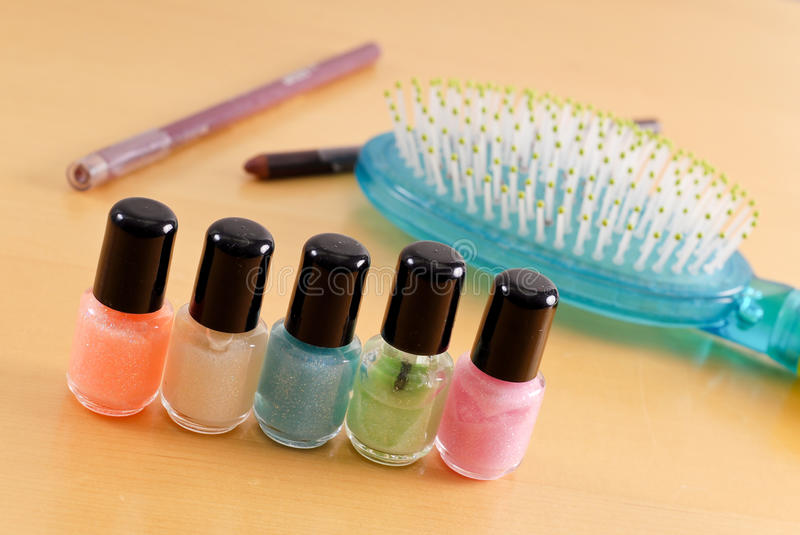 Glamour Nail Polish Set Stock Photo