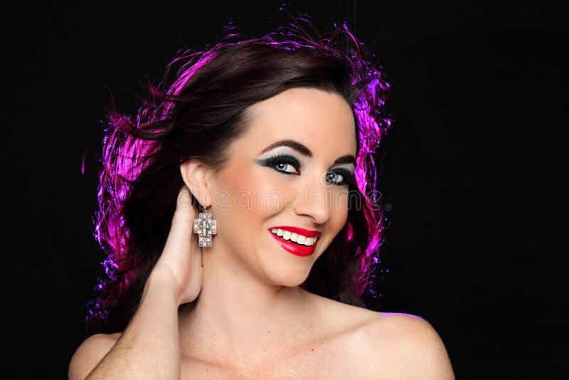 Glamour Portrait of Beautiful Woman royalty free stock photo