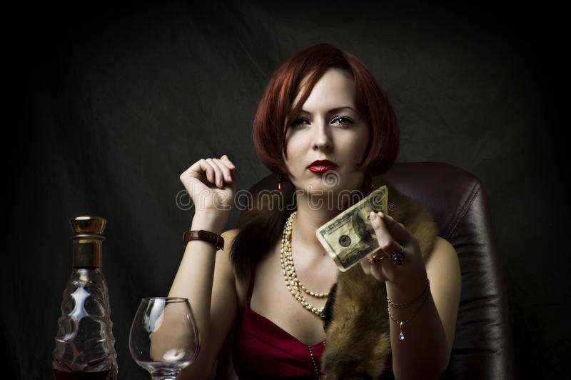 Glamour portrait of fashion woman royalty free stock photography