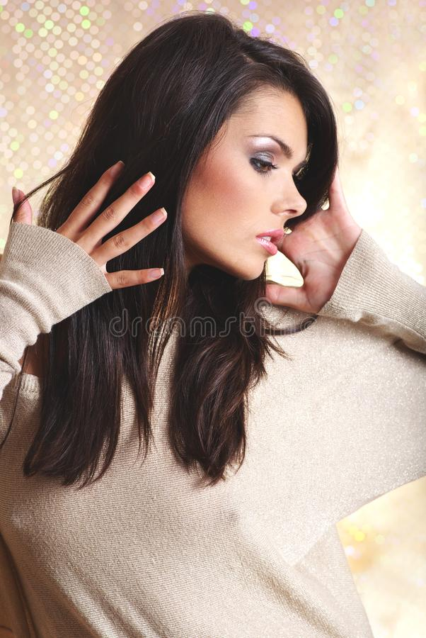 Glamour portrait of woman stock images