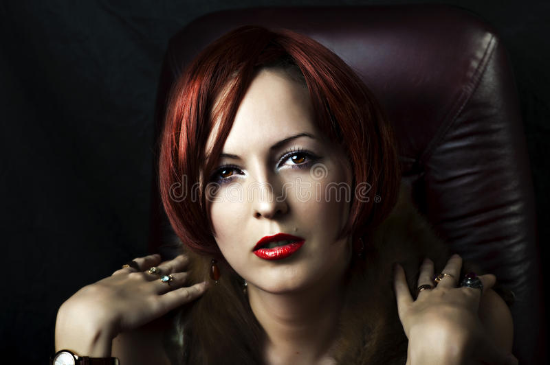 Glamour portrait of woman face royalty free stock photos