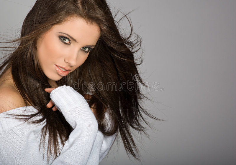 Glamour portrait of woman royalty free stock photos