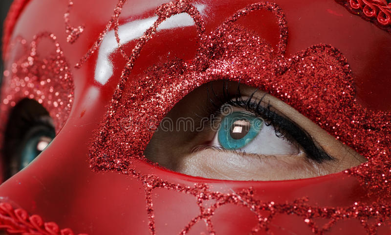 Glamour Red Mask Royalty Free Stock Image