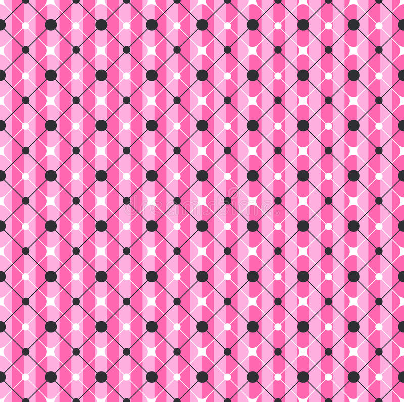 Glamour Roze Gestreept Geometrisch Patroon vector illustratie