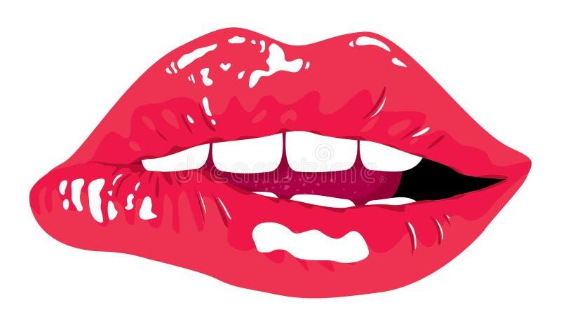 Glamour female lips. And sensual female red lips