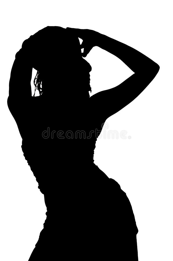 Glamour Silhouette royalty free illustration