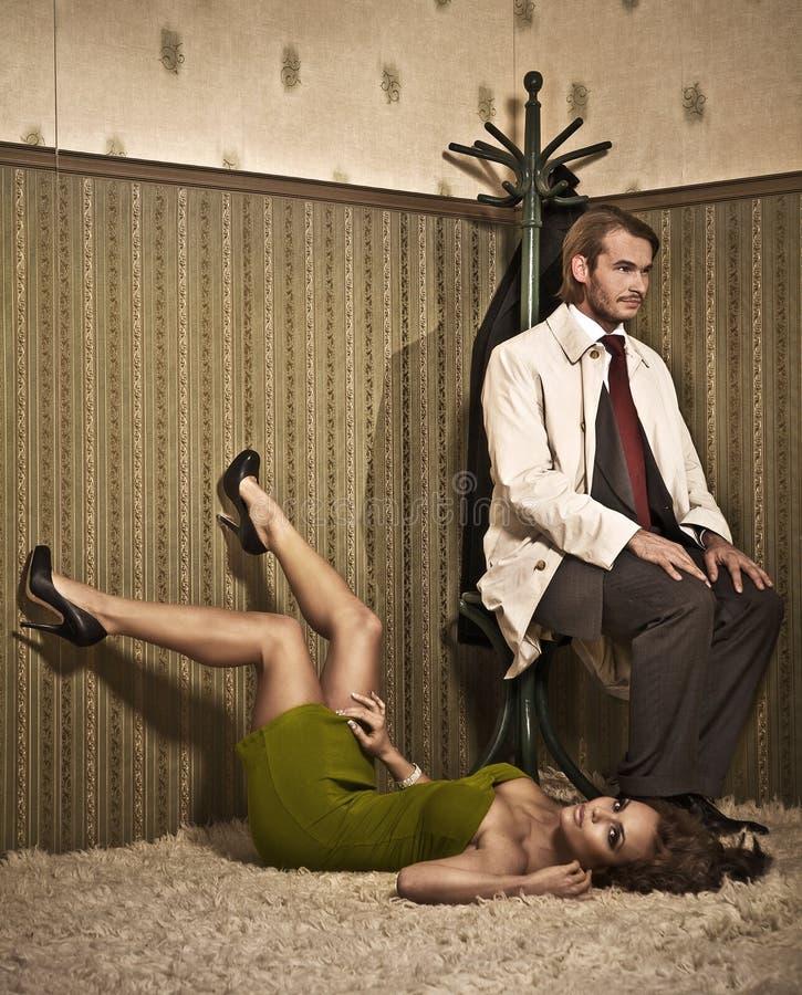 Download Glamour style photo stock image. Image of stockings, intimacy - 9347259