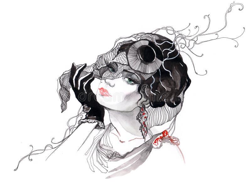 Glamour woman stock illustration