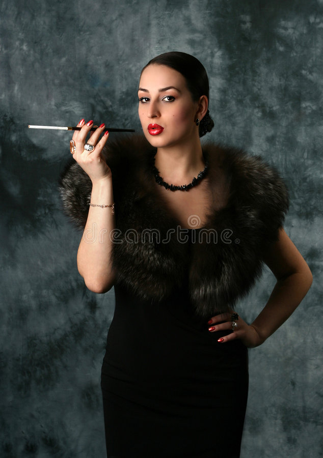 Download Glamour Woman With Cigarette Stock Image - Image: 2776299