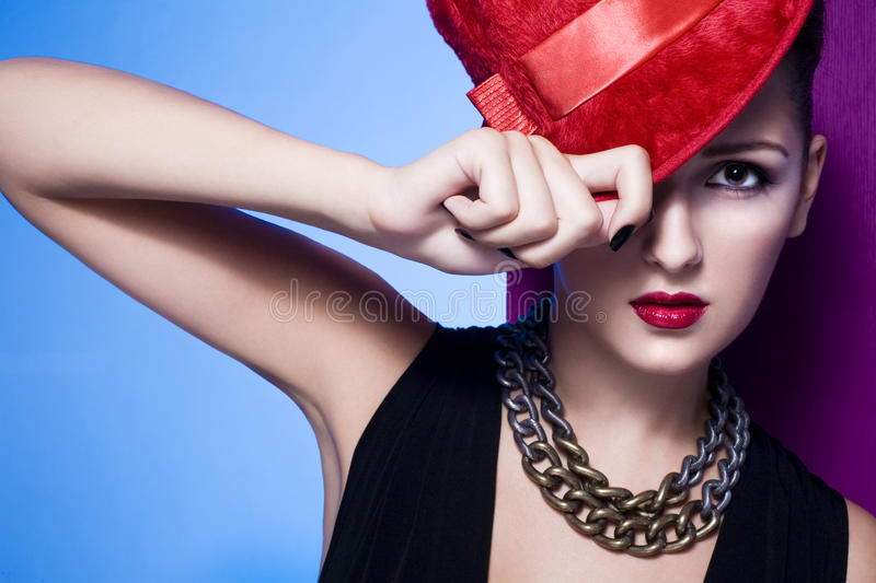 Glamour woman portrait royalty free stock image