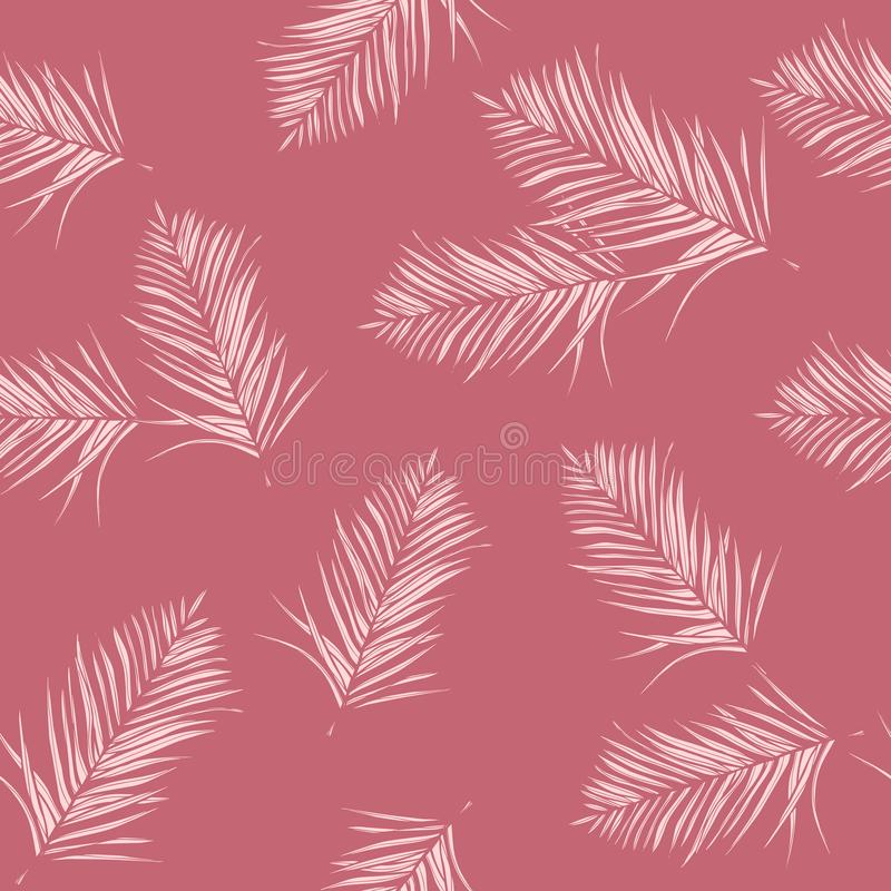 Free Glamoure, Pink Tropical Leaves. Seamless Graphic Design With Amazing Palms. Fashion, Interior, Wrapping, Packaging Suitable. Royalty Free Stock Images - 158925329