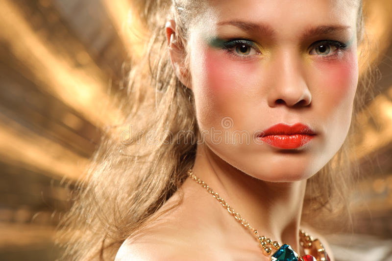 Download Glamourous Fashion Portrait Stock Image - Image of creativity, caucasian: 17234853